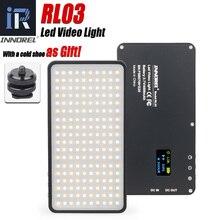 RL03 luz LED para vídeo Vlog lámpara de iluminación fotográfica regulable para cámaras de teléfono móvil Canon, Nikon, Pentax, DSLR, carga del tesoro