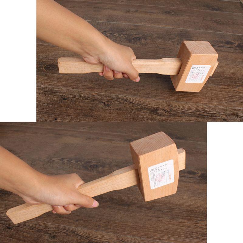Твердый Буковый молоток, плотник, деревообрабатывающий молоток для резьбы по дереву с гладкой поверхностью