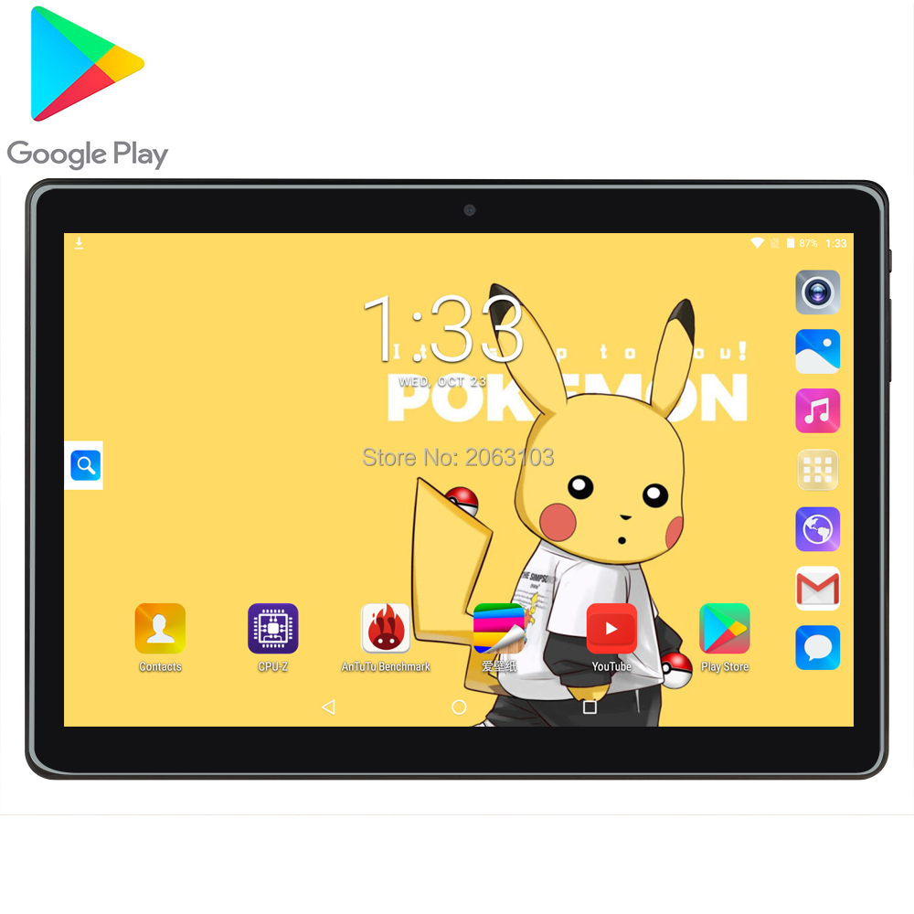 Newest Google Play Android 7.0 OS 10 Inch Tablet 3G Phone Quad Core 2GB RAM 32GB ROM 1280X800 IPS GPS Netflix Tiktok Pad
