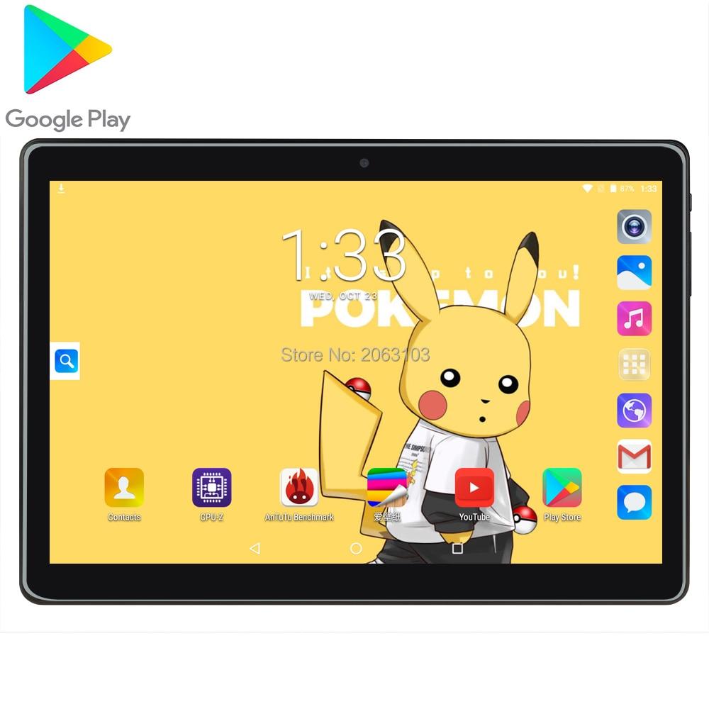 Newest Google Play Android 7.0 OS 10 Inch Tablet 3G Phone Quad Core 2GB RAM 32GB ROM 1280X800 IPS GPS Netflix Tiktok Pad
