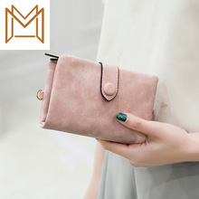 Printing Leather Wallet Woman Short Hasp Position Hand Package Small Package Wallet