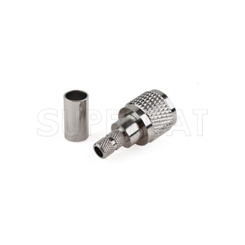 Superbat Mini-UHF Plug Crimp for RG58 LMR195 RG142 Cable Straight RF Connector