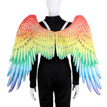 Adult Carnival Party Props Amsterdam Gay Pride Parade LGBT Cosplay Costume Big Large Angel Rainbow Wings 105*75cm 2019 A12 цена и фото