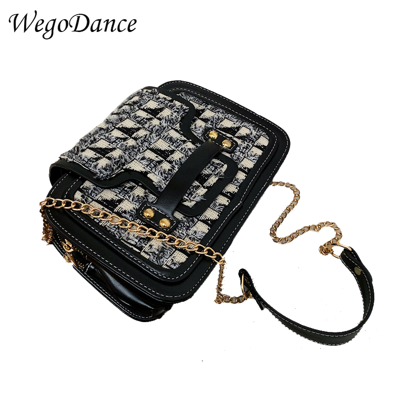 New Vintage Women Metal Ring Chains Rivet Small Totes Bucket Handbag Party Purse Clutch Ladies Shoulder Crossbody Bags