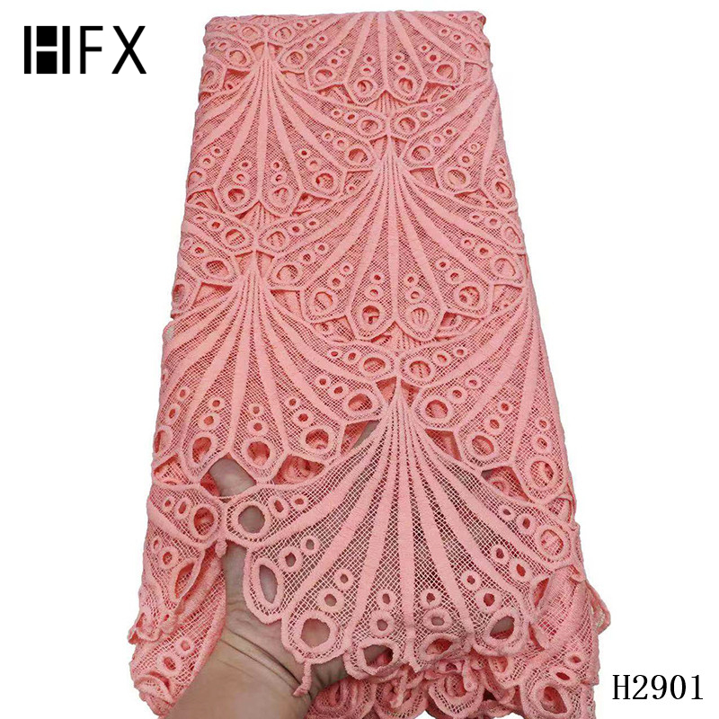 Image 4 - HFX 2019 latest african guipure lace white water soluble chemical lace fabric,high quality african cord lace free shipping H2311-in Lace from Home & Garden