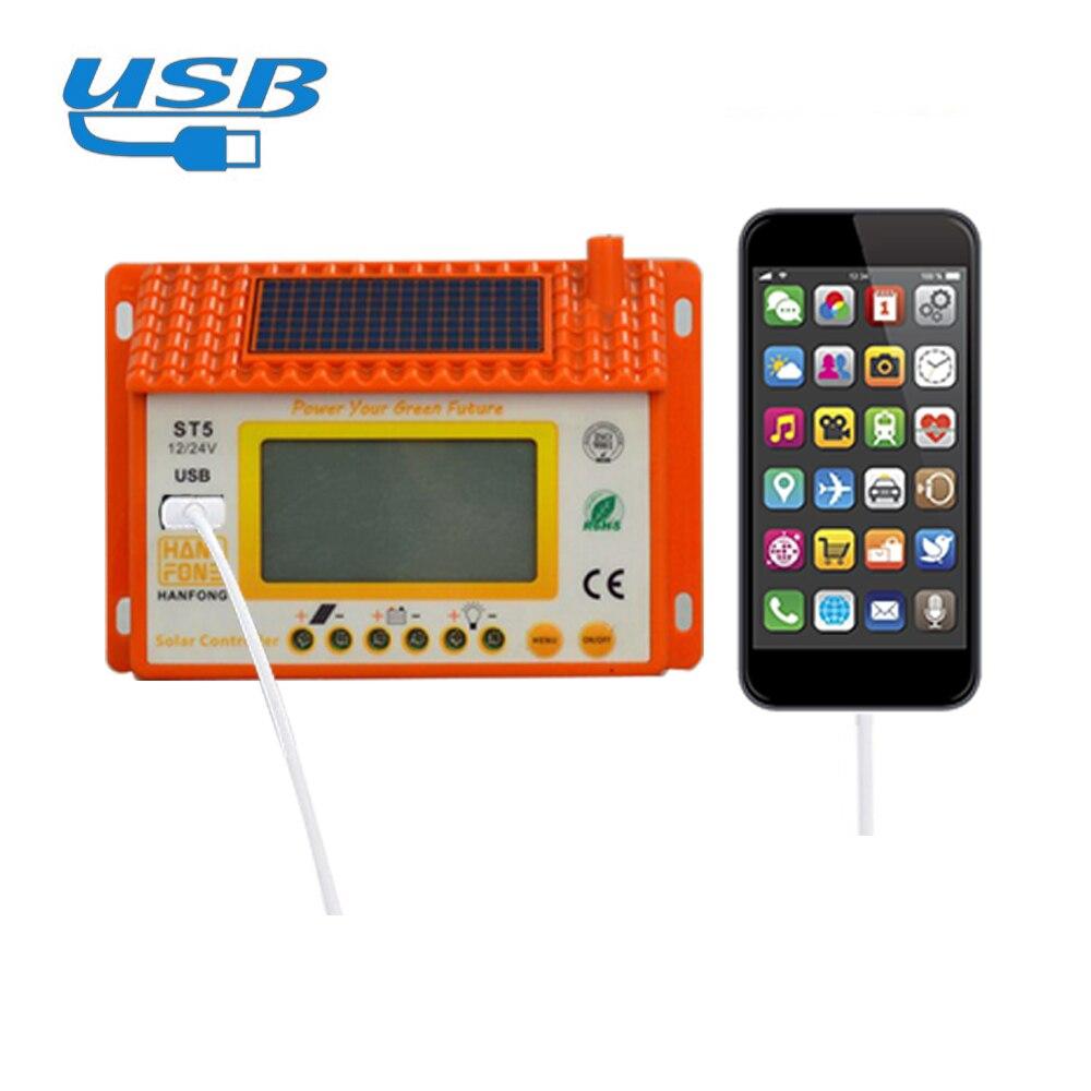 duplo usb controlador de carga solar painel 05