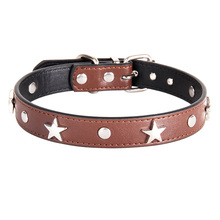S/M/L Star Studded Pet Dog Collar Leather Puppy Collars for Small Medium Dogs Cat Neck Strap Supplies Chihuahua