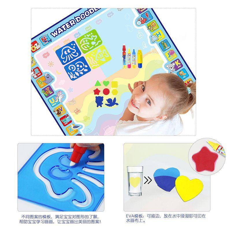 Hot Sales 100*100 Children Magic Water Canvas Magic Color Shui Hua Tan Baby Water Doodle Mat