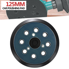 Mayitr 1pc 5Inches 125mm 8 Hole 3 Nails Hook Sanding Base + Pad with Random Orbit Sander Replacement for Electric Grinder
