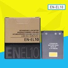 Batterie de caméra EN-EL10 EN EL10 pour Nikon COOLPIX S200 S210 S220 S230 S3000 S4000 S500 510 S5100 S520 S570 S60 S600 S70
