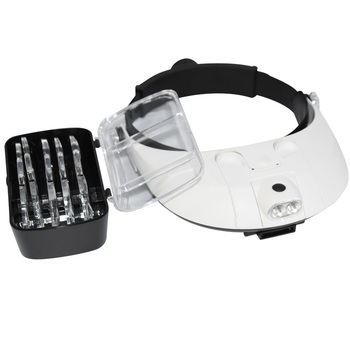 Headband Magnifying Glass With Led Lamp Magnifier For Beekeeping Equipment 1.0-6.0X Multiple Magnification Mirror With 5 Lens 1