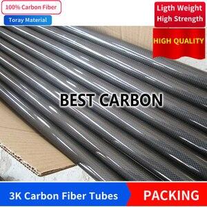 Image 2 - Бесплатная доставка, 13, 14, 15, 16, 17, 18, 19, 20 мм, Длина 500 мм, высокое качество, гладкое, глянцевое, 3K, трубка из углеродного волокна