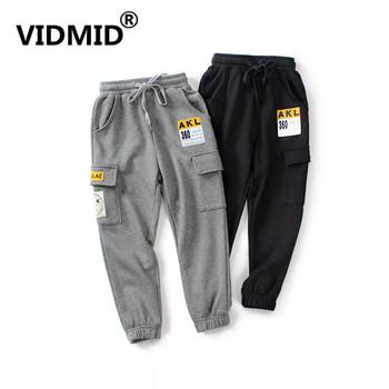 Vidmate nastoletnich chłopców długie spodnie 6-14 lat dla chłopców spodnie dla chłopców ubrania dla dzieci ciepłe spodnie szkolne dla dużych chłopców odzież zimowa 4102 37 tanie i dobre opinie VIDMID spandex COTTON Cartoon Pełnej długości Harem spodnie REGULAR Elastyczny pas PATTERN Kieszenie Pasuje prawda na wymiar weź swój normalny rozmiar