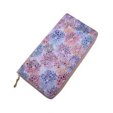 KANDRA New Mottle Women's Wallet Long Design Soft Leather Ladies Floral Clutch Purses Card Holder Phone Pocket Coin Purse Gift