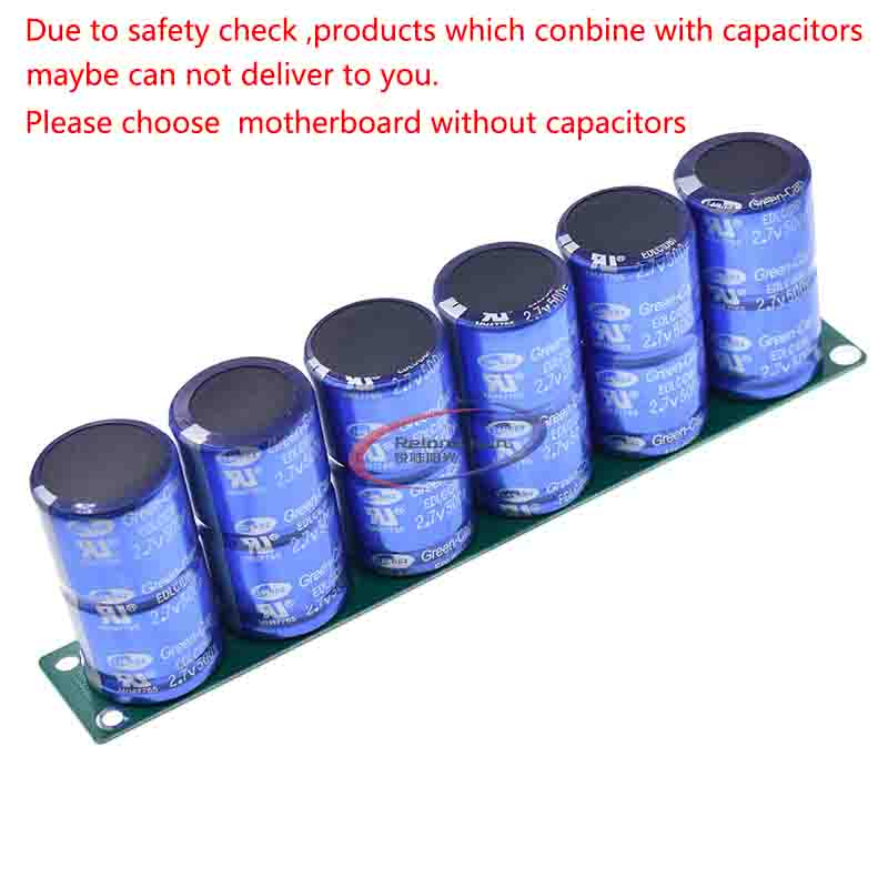 6Pcs//Set Farad Capacitor 2.7V 10F Super Capacitors Protection Board Module  @