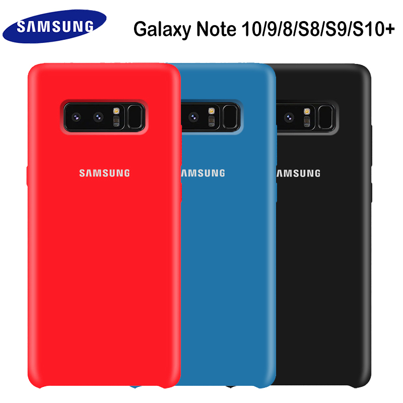 SAMSUNG Note 8 Case Original Soft Silicone Protector Case Samsung Galaxy Note 8 9 10 Plus 10+ 5G Case Back Cover