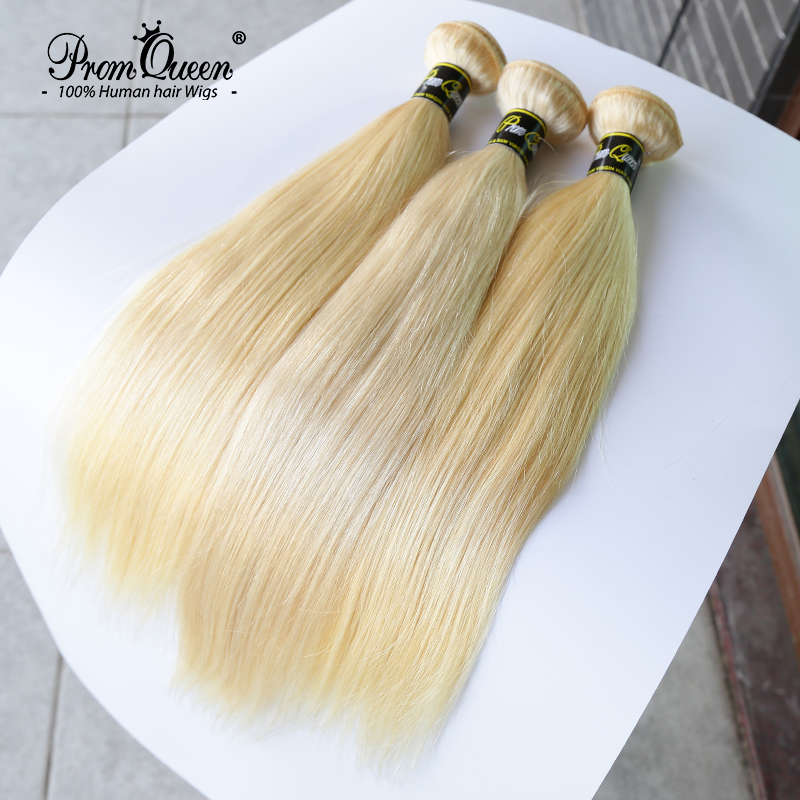 Promqueen 613 Bundle Brazilian human hair bundles Weave 9A Virgin Hair 30 32 38 40Inch Long Hair Bundles Straight Blonde Bundles