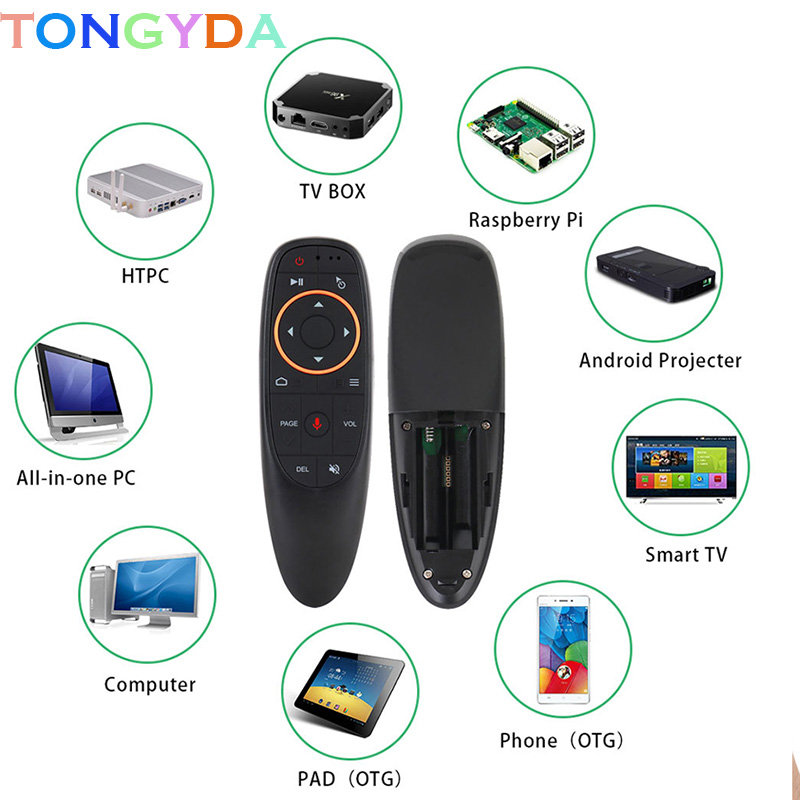 2.4G USB Receiver G10 Air Mouse Voice Control with <font><b>G10s</b></font> for Gyro Sensing Mini Wireless Smart Remote for Android TV BOX Computer image