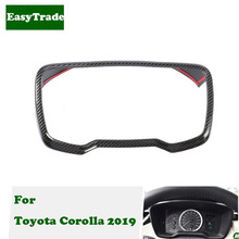 Car styling Dashboard Frame Trim Instrument Board Decorative Cover Strips For Toyota Corolla 2019 car accessories