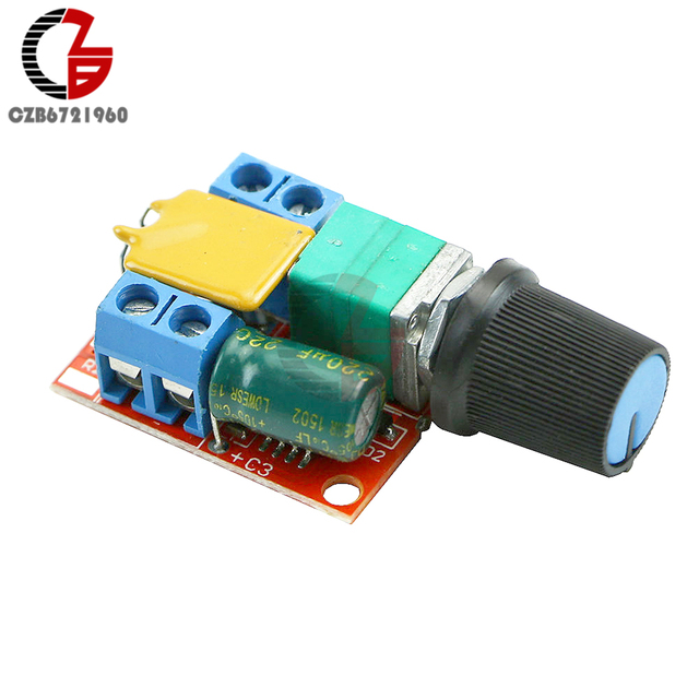 5A DC 모터 속도 컨트롤러 3-35V 부드러운 소프트 스타트 브러시리스 모터 속도 제어 파워 레귤레이터