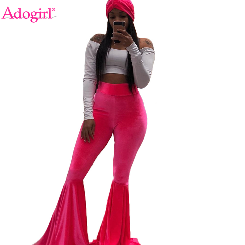 Adogirl Velvet Flare Pants Pants & Capris Women Bottom ! Plus Size Women's Clothing & Accessories