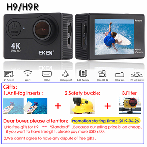 "Image 2 - ต้นฉบับEKEN H9/H9Rกล้องUltra HD 4K / 30fps WiFi 2.0 ""170Dใต้น้ำกันน้ำหมวกกันน็อกVedio Go Sport Proมา"