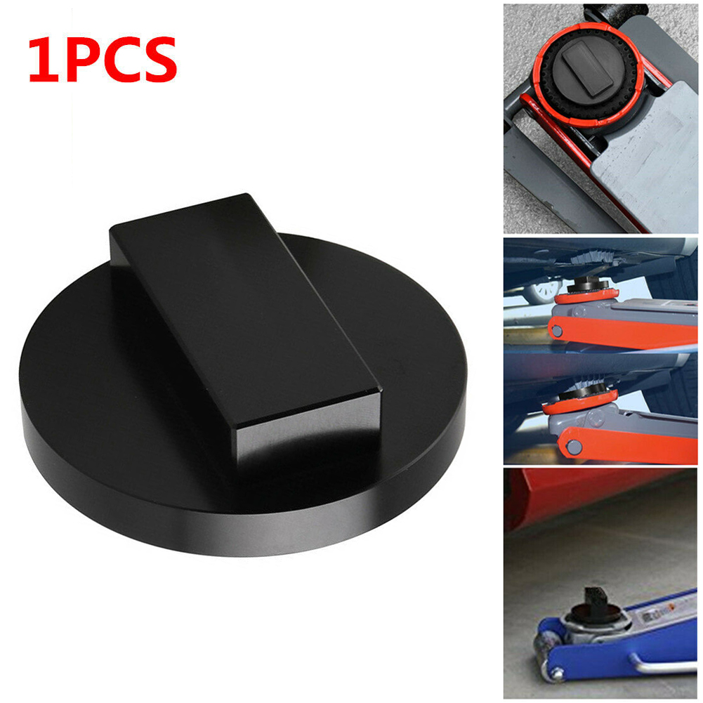 1PCS Jack Mat Adapter Billet Anodized Black Aluminum Floor Jack Pad For Mini Cooper To Pinch Weld Side Lift Disk Car Accessories