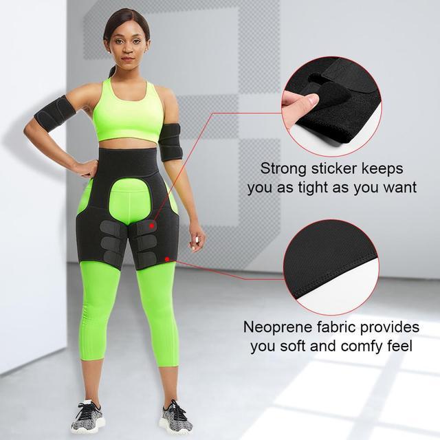 WAIST SECRET Slim Thigh Trimmer Leg Shapers Slender Slimming Belt Neoprene Sweat Shapewear Toned Muscles Band Thigh Slimmer Wrap 1