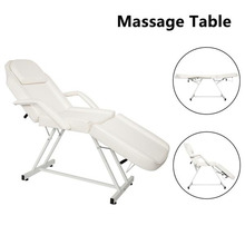 185cm * 82cm * 73cm PVC Leather Hairdressing Salon HZ015 Dual-purpose Barber Massage Chair Without  Small Stool White