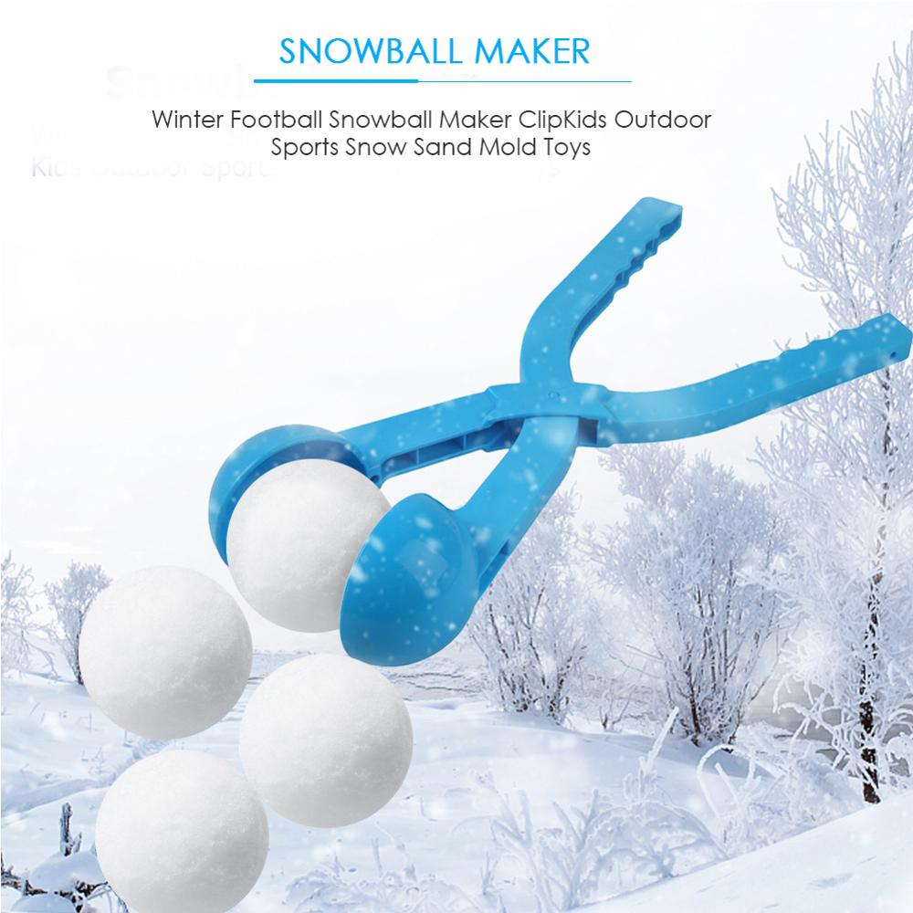 Winter Snowball Maker Sand Mold Tool Snow Ball Maker Funny Compact Snowballs Fight Outdoor Sport Snow-balls Toy Random Color