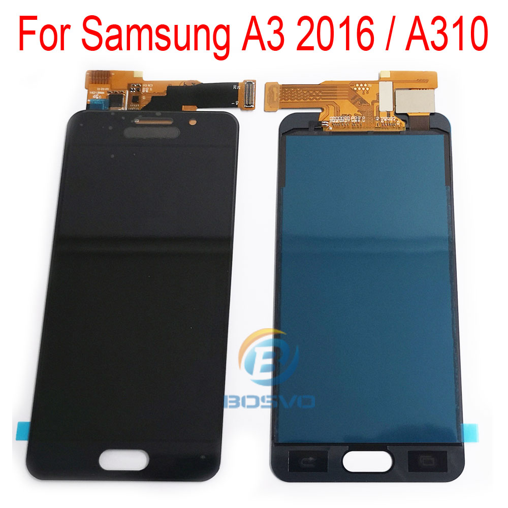 for <font><b>Samsung</b></font> <font><b>A310</b></font> <font><b>lcd</b></font> display A3 2016 screen with touch digitizer assembly replacement repair parts image