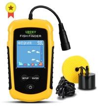Armazém russo! FFC1108 1 alarme 100m portátil sonar peixe finders isca de pesca eco sounder pesca finder lago pesca do mar