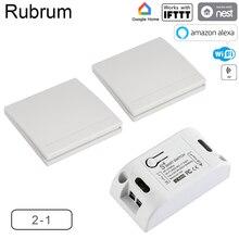 Rubrum Rf 433 110V 220V Ontvanger Smart Home Wifi Draadloze Afstandsbediening Smart Smart Leven/Tuya App werkt Met Alexa Google Thuis