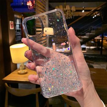 Glitter Star krzemu skrzynka dla iPhone 11 Pro XS X XR Max Shining cekiny TPU wyczyść tylna pokrywa dla iPhone 6 6S 7 8 12 Plus SE 2020 tanie i dobre opinie LYKL APPLE CN (pochodzenie) iphone Case Soft TPU Sequin Silicon Epoxy Phone Case Sequin Case For iPhone 6 8 7 6S Plus X XR XS Max