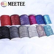 Meetee 9/16mm Sparkle Glitter Samt Spitze Band Trim Stirnband Clips Bogen Hochzeit Party DIY Geschenk Dekor Nähen materialien