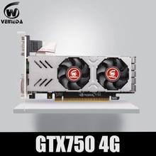 Placa gráfica gtx 750 4gb 128bit 5012mhz gddr5 de veineda placa de vídeo para placas vga nvidia mais forte do que r7 350 2gb