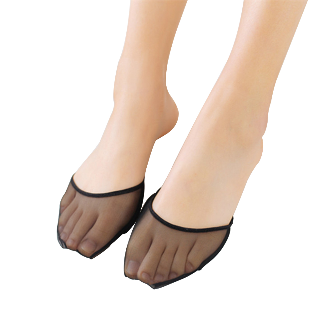 Women Socks Toe Invisible Non-slip Lady Summer Thin Breathable Slip Resistant Useful Toeless Toe Pads Invisible Liner Heelless