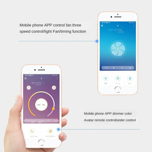 smart ceiling fan fans with lights remote control bedroom decor ventilator lamp 52cm air Invisible Blades Retractable Silent