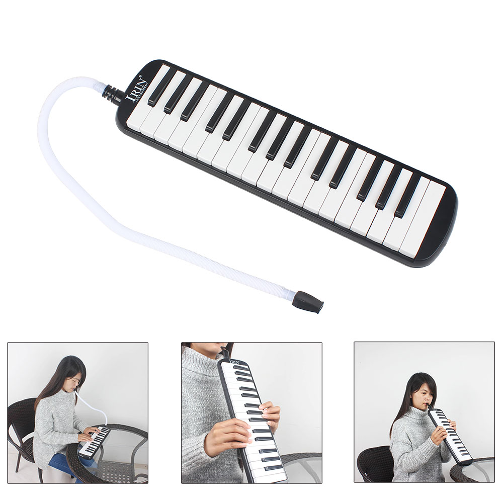IRIN Portable <font><b>32</b></font> <font><b>Key</b></font> <font><b>Melodica</b></font> Student Harmonica With Bag Toy Musical Learning Instrument Long Bendy Mouthpiece Harmonica Toy image