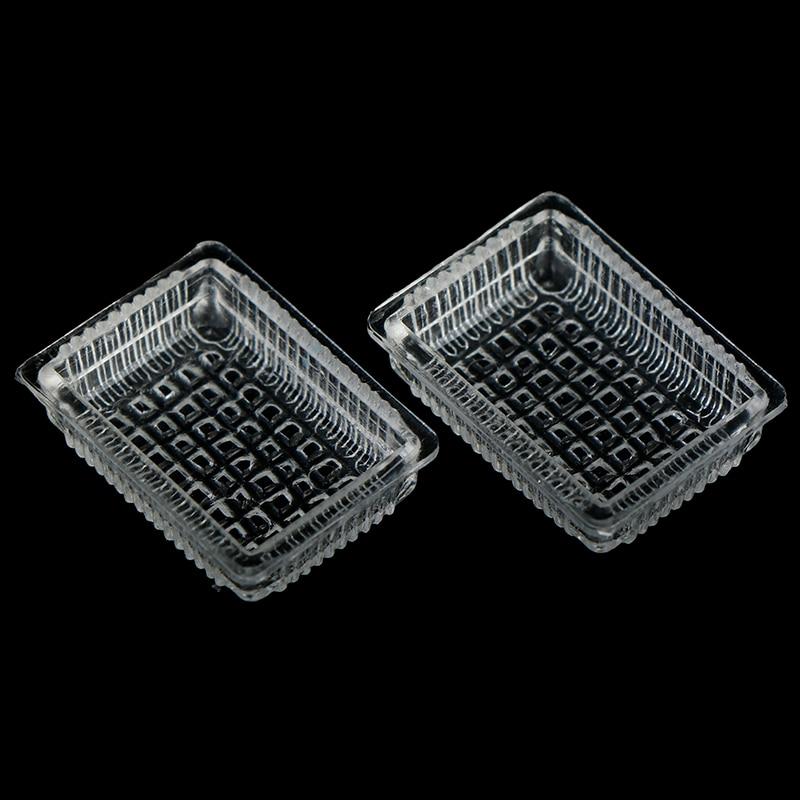 15pcs//Set Mini Transparent Drink Cups Dish Plate Tableware Miniatures H IJ