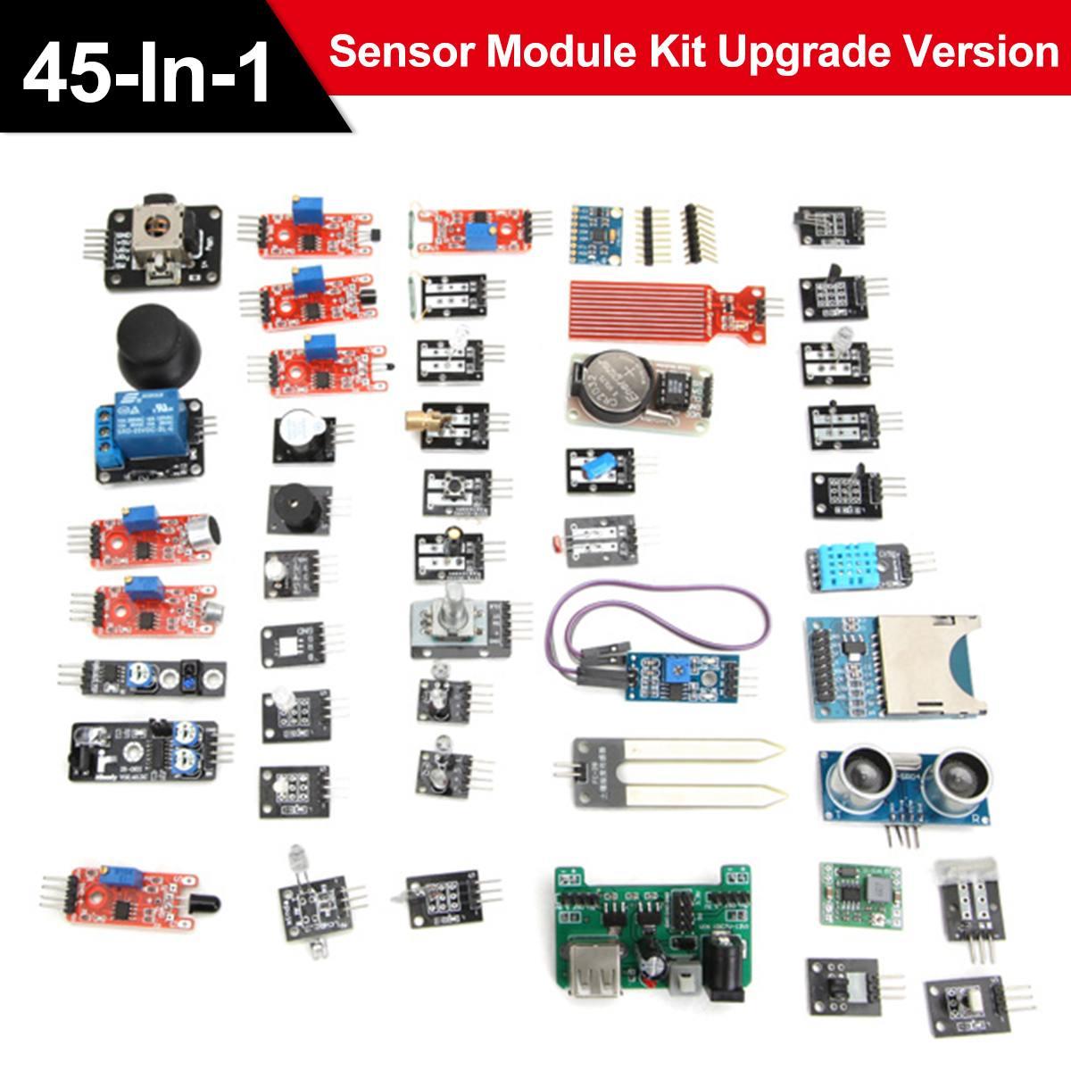 45 In 1 Electrical Sensor Modules Starter Kit For Arduino Upgrade Sensor Kit US