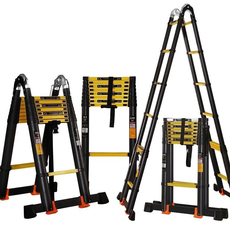 2.1M+2.1M Herringbone Ladder/4.2M Straight Ladder Multifunctional Anti-tilt Engineering Ladder Telescopic Ladder Folding Ladder