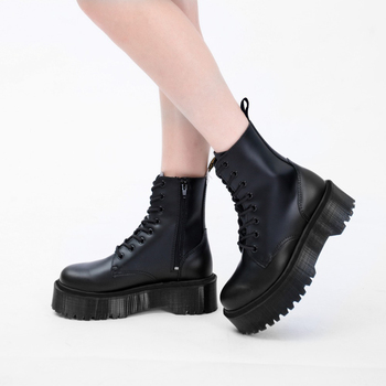 .Jadon 8-Eye Doc Boots Women High Platform Ankle Shoes Chunky Woman Leather Motorcycle Ladies Fashion Women Boots Martins 2020