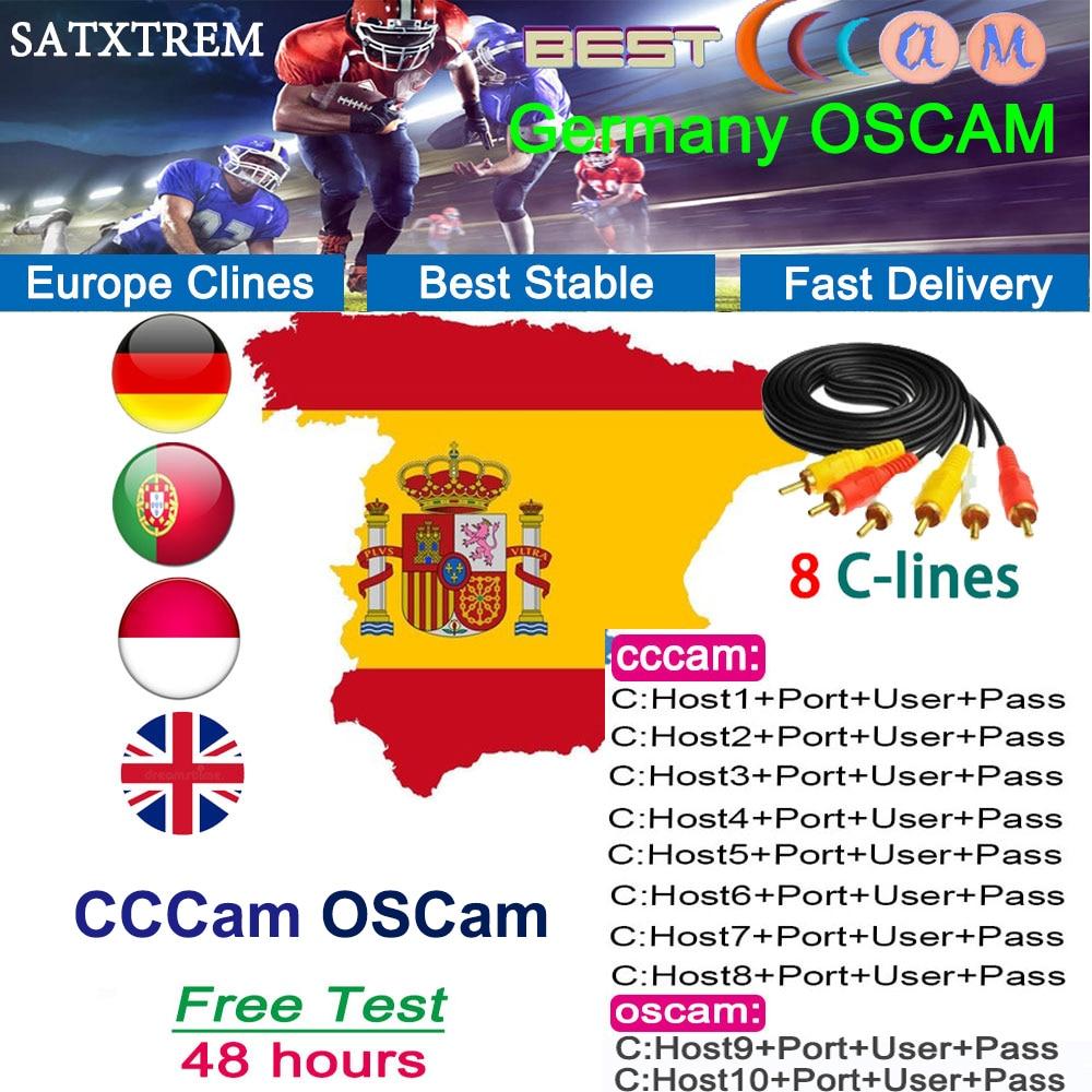 SATXTREM OSCAM Germany Cccam Cline For 1 Year Spain Cccam Portugal Italia Poland Europe Server Hd Ccam ESPA A For DVB S2 Decoder