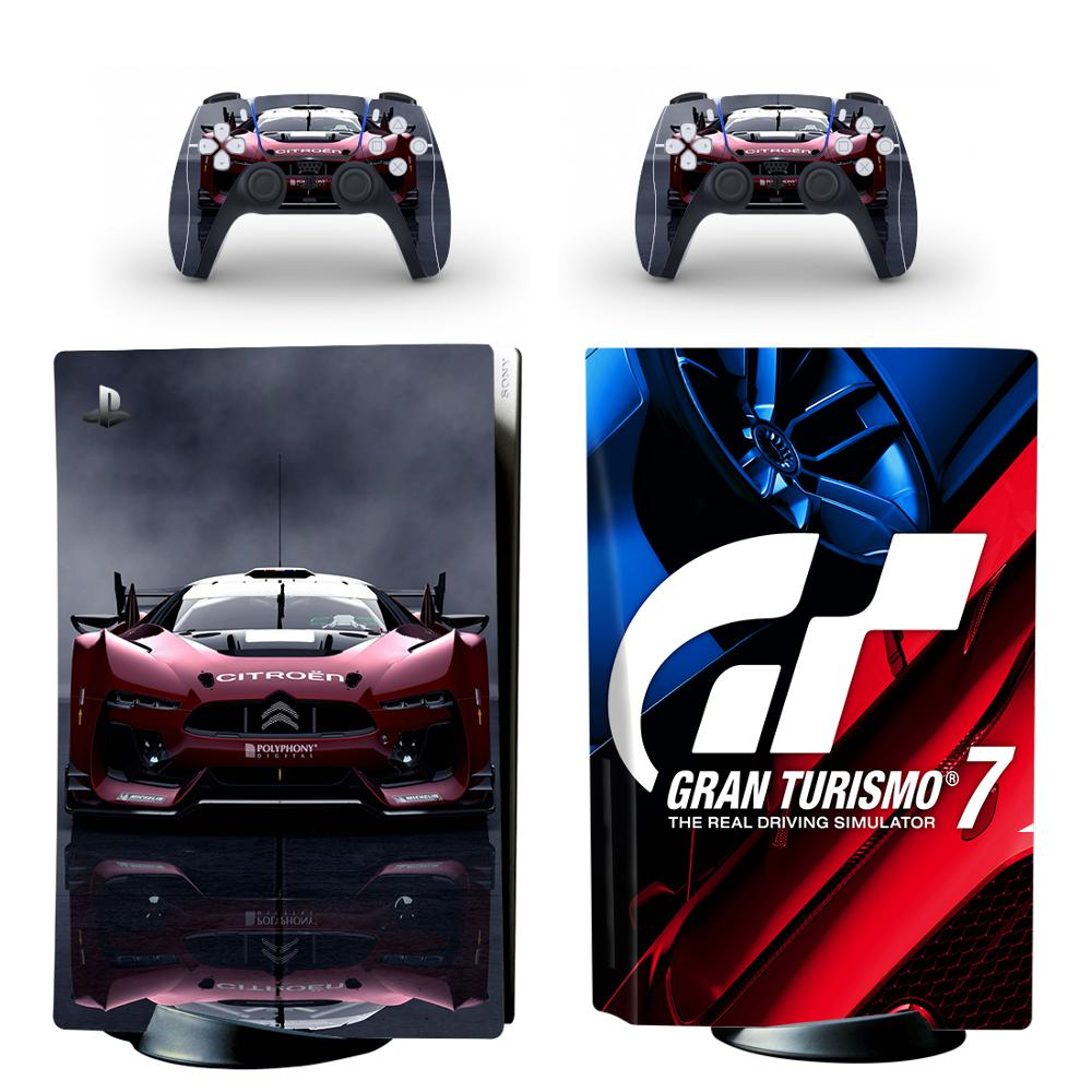 GT Sport PS5 Standard Disc Edition Skin Sticker Decal Cover for PlayStation 5 Console & Controller PS5 Skin Sticker Vinyl 1