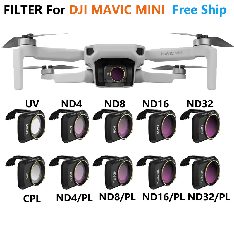 Filtro de lente da câmera mcuv nd4 nd8 nd16 nd32 cpl nd/pl filtros kit para dji mavic mini zangão acessórios