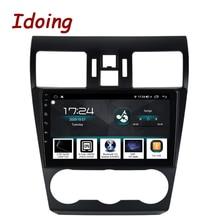 """Idoing 9 """"רכב אנדרואיד רדיו GPS מולטימדיה נגן QLED עבור סובארו פורסטר XV WRX 2013 2015 ניווט ראש יחידה לא 2 דין dvd"""