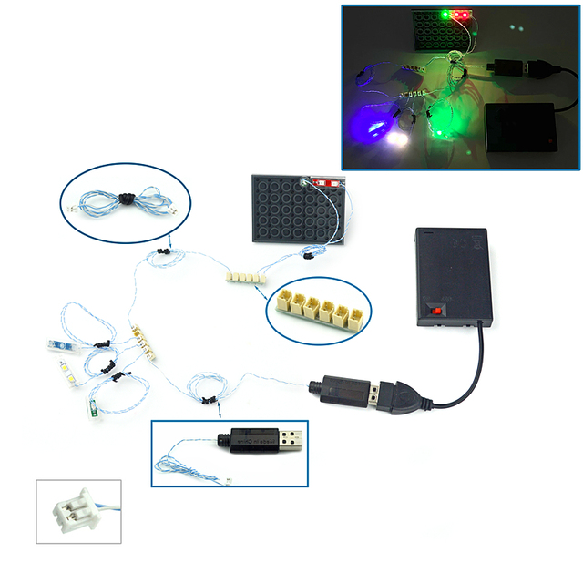 Lamp Pin port compatible with Building Block moc City Street DIY remote control 3