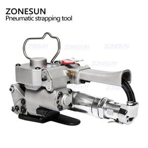Image 5 - ZONESUN Портативный быстрое пневматическое портативное устройство для обвязки ПП ПЭТ поддонов ленточный натяжитель и упаковщик коробки картонная машина