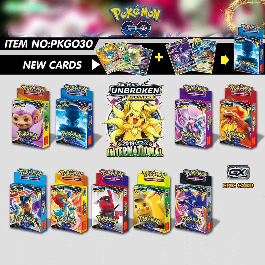 25 Cards Per Box New POKEMON Card English Version Pokemon Battle Collection Card Box Kids Toy Gift